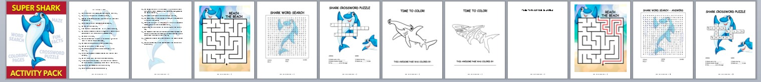 Done-for-You Shark Activity Book – Easy