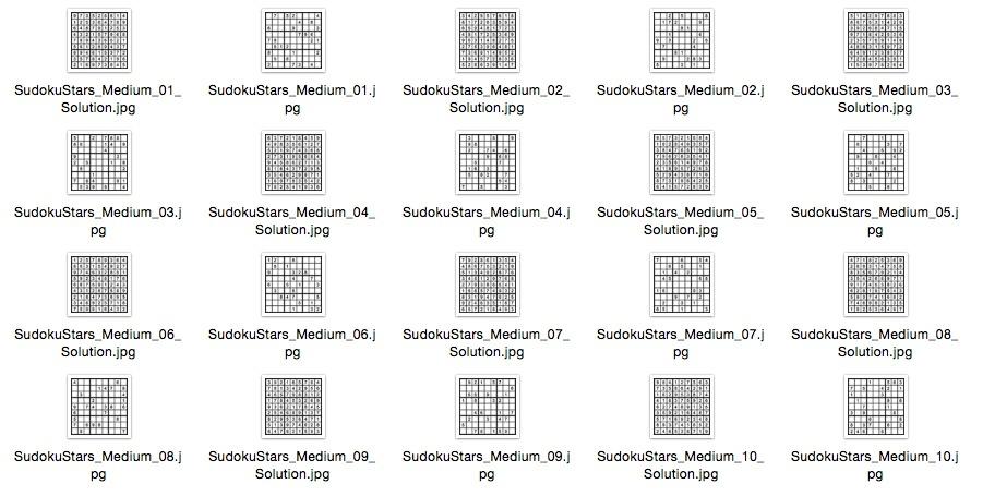 Medium Puzzles