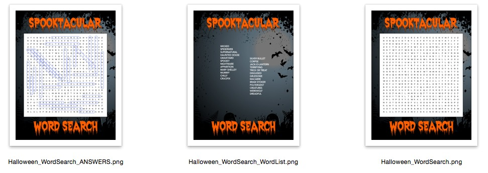 Haunted Halloween Word Search