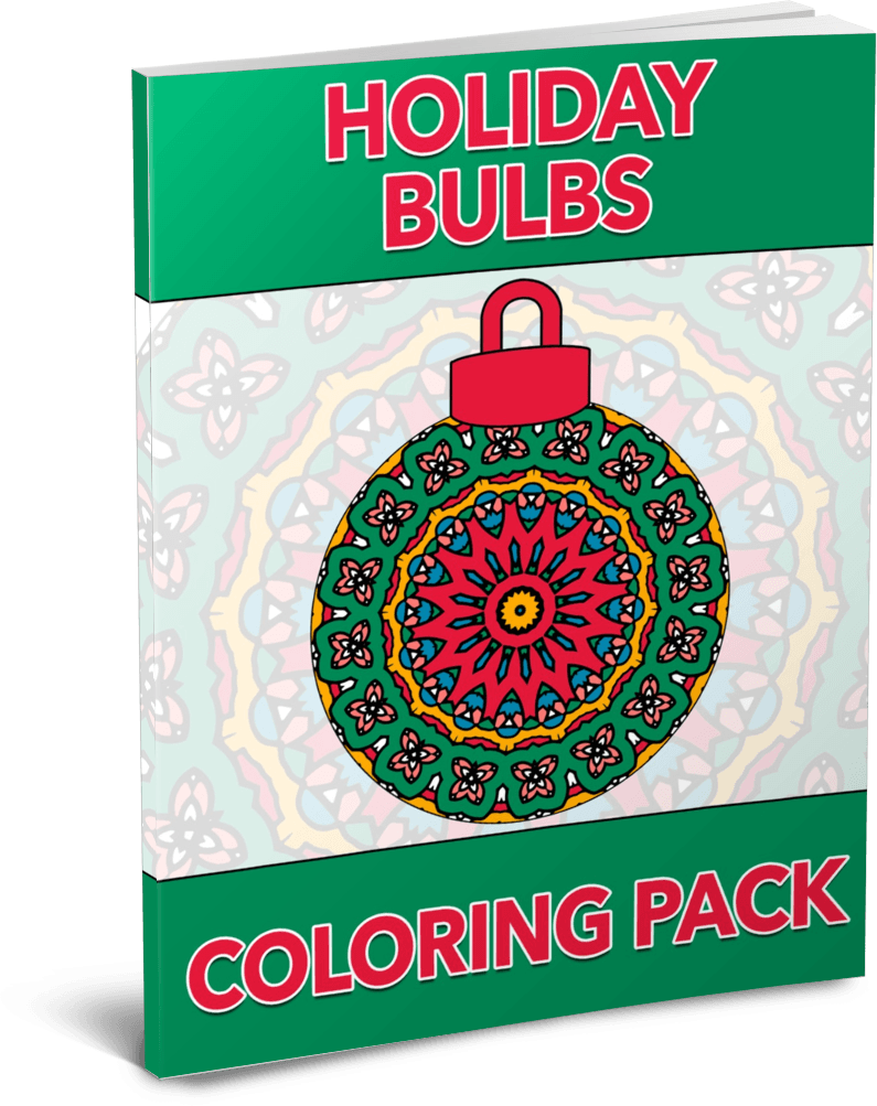 Holiday Bulbs PLR Coloring Pack