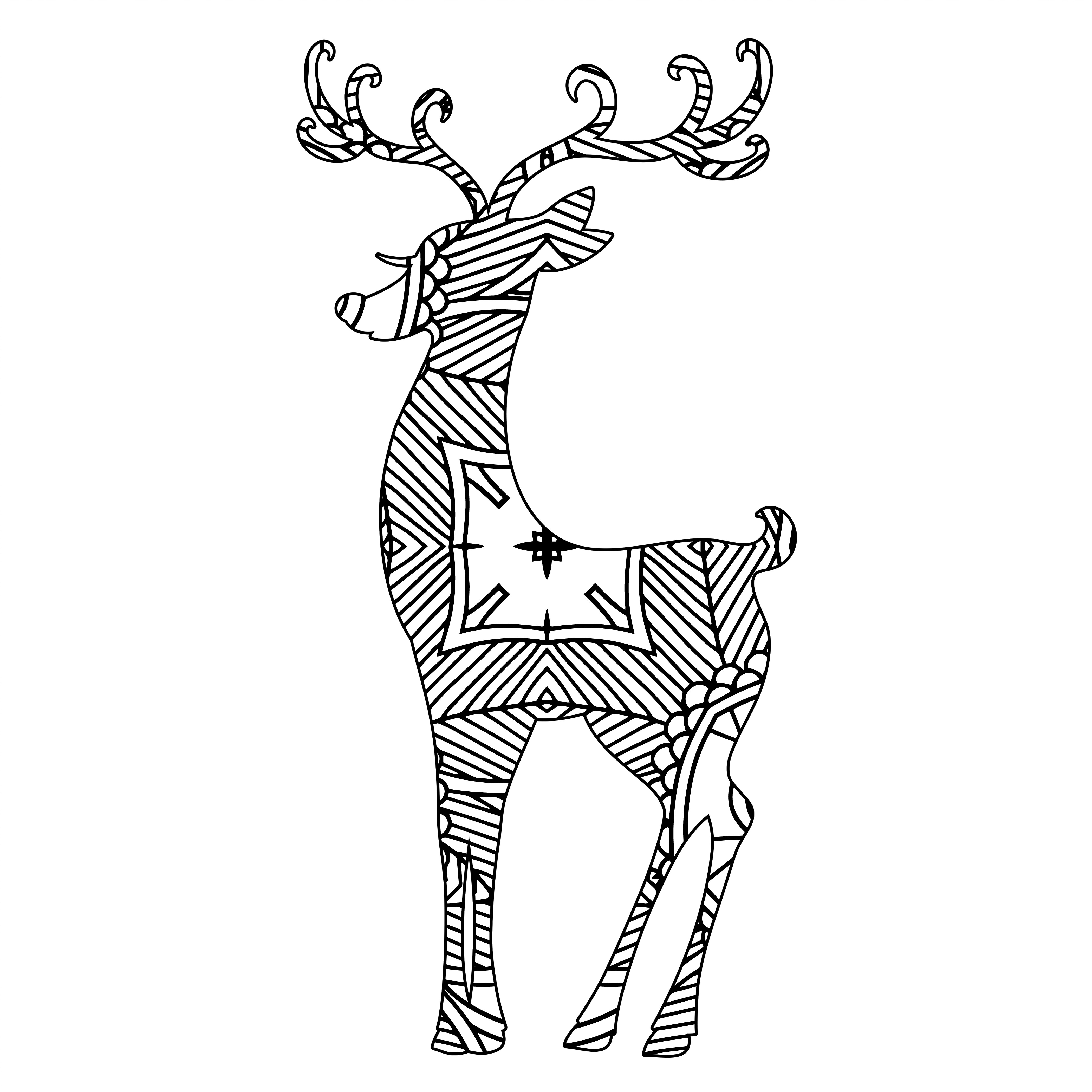 Reindeer Template & Holiday Design 01