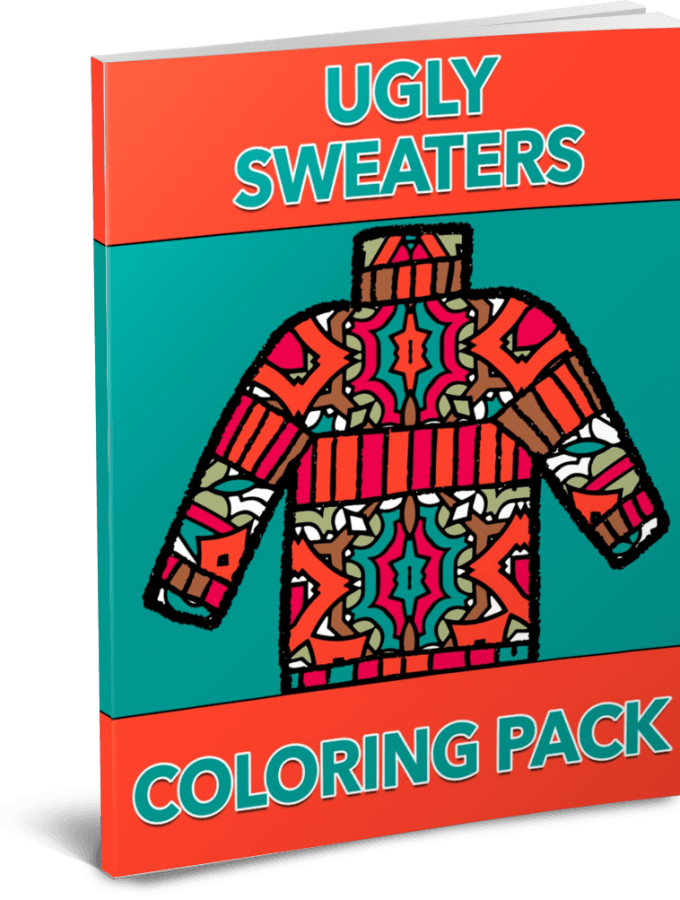 Ugly Sweaters Coloring Pack