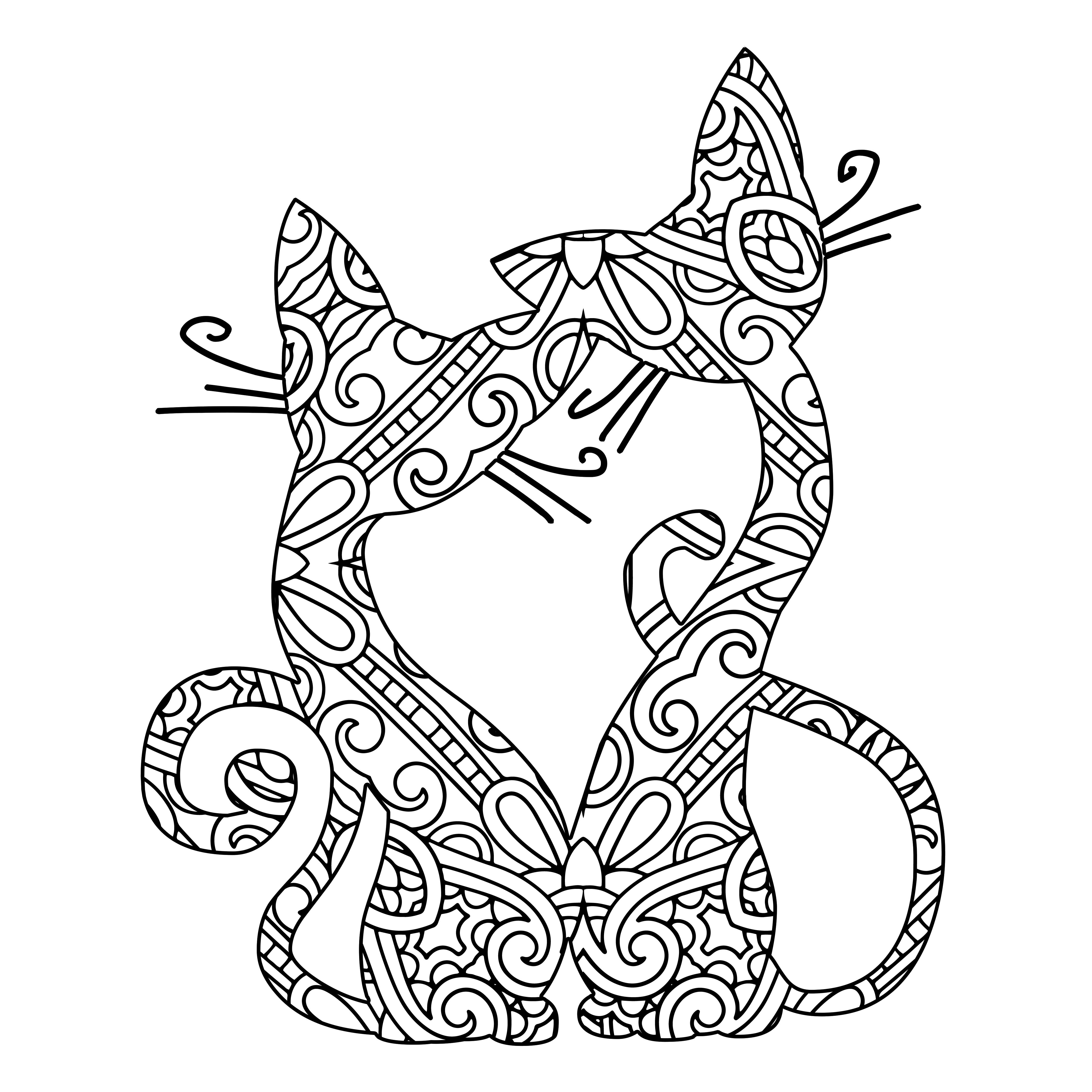 Coloring Book For Cat Lovers Cats Coloring Pages Free