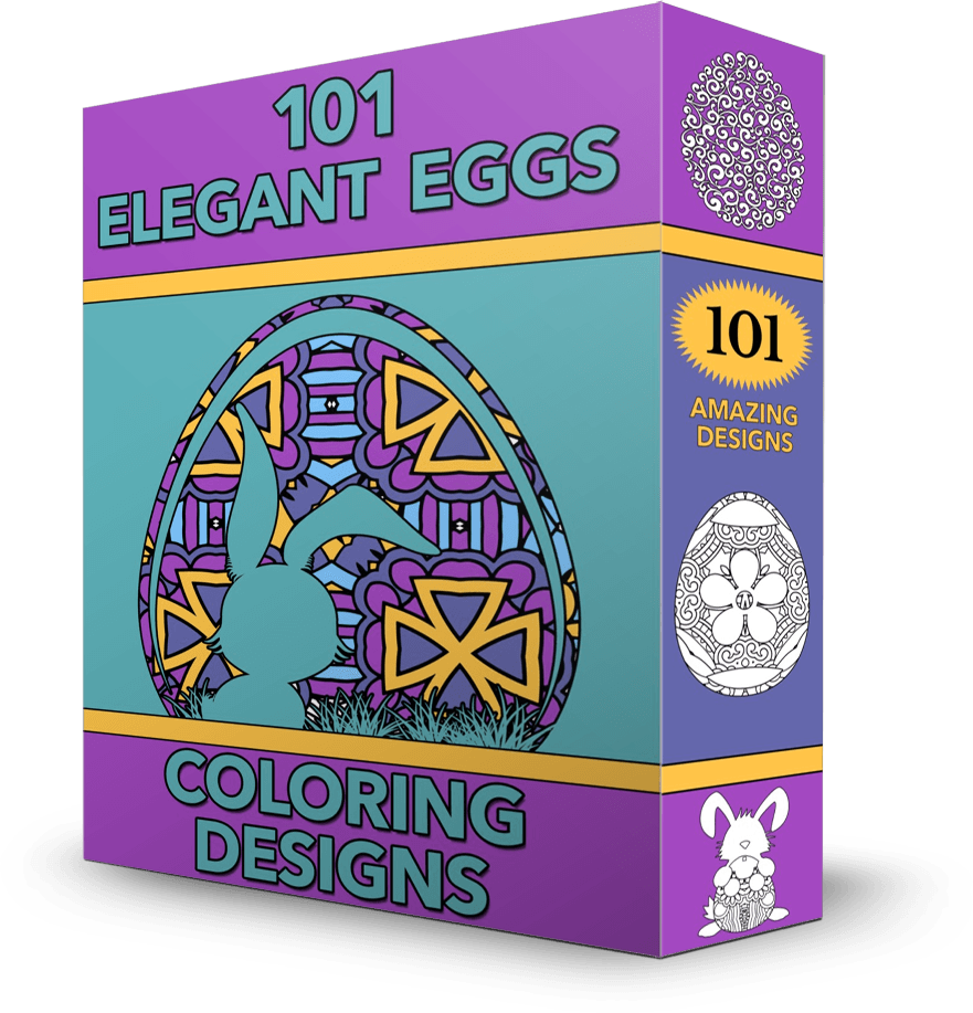 101 Elegant Eggs Coloring Pack