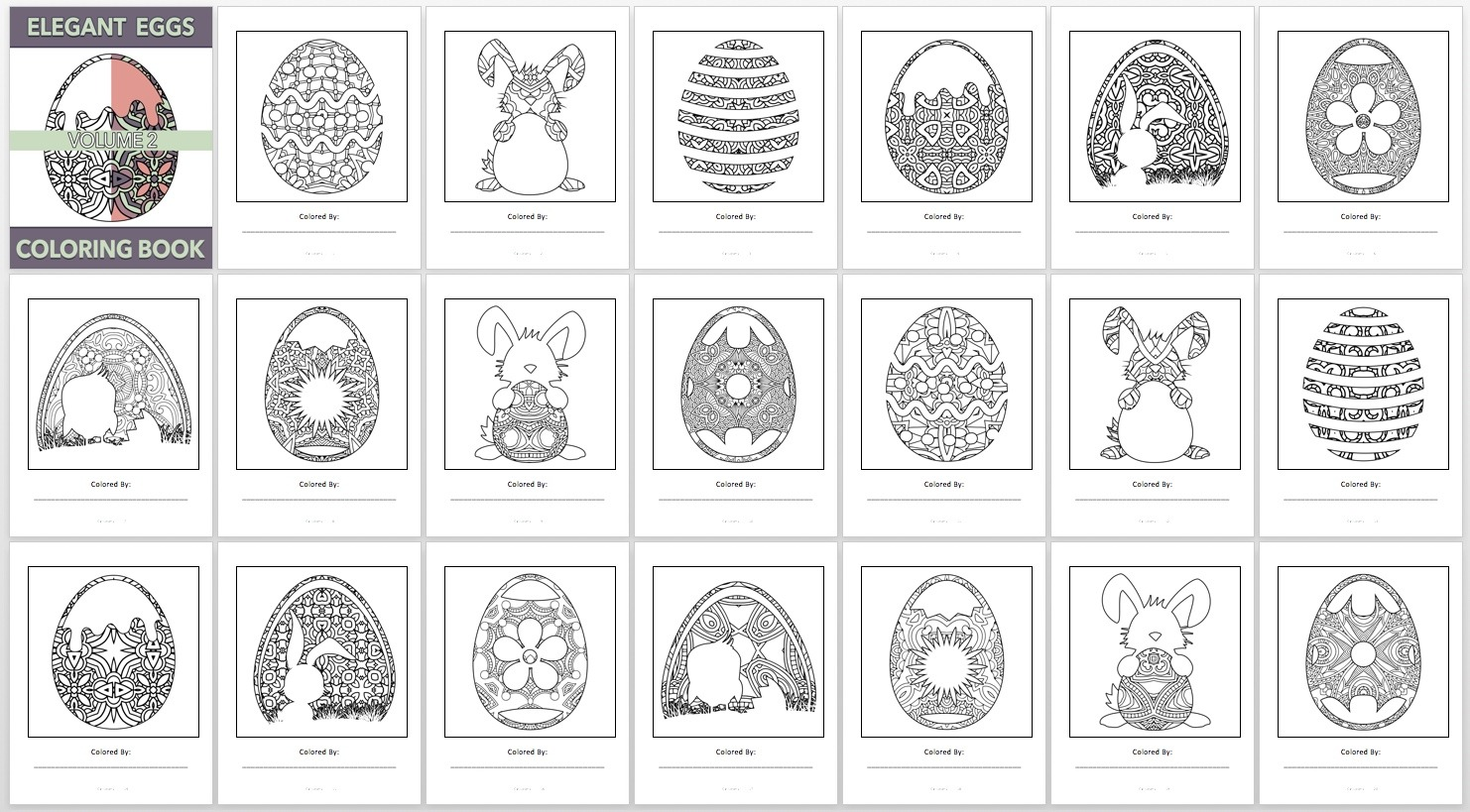 Elegant Eggs, V2 – Book Preview