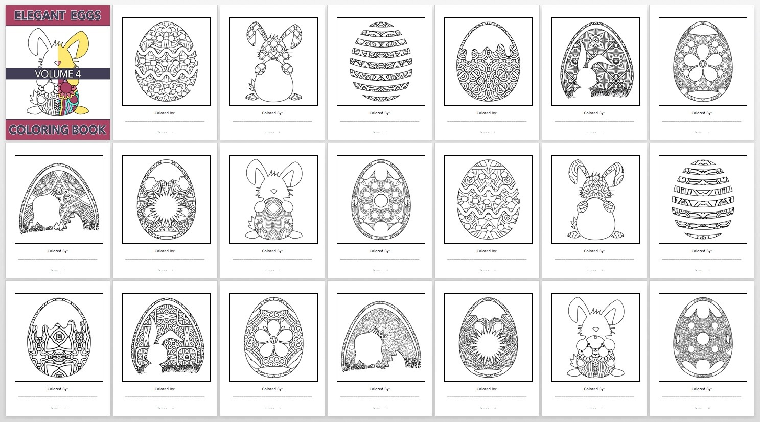 Elegant Eggs, V4 – Book Preview
