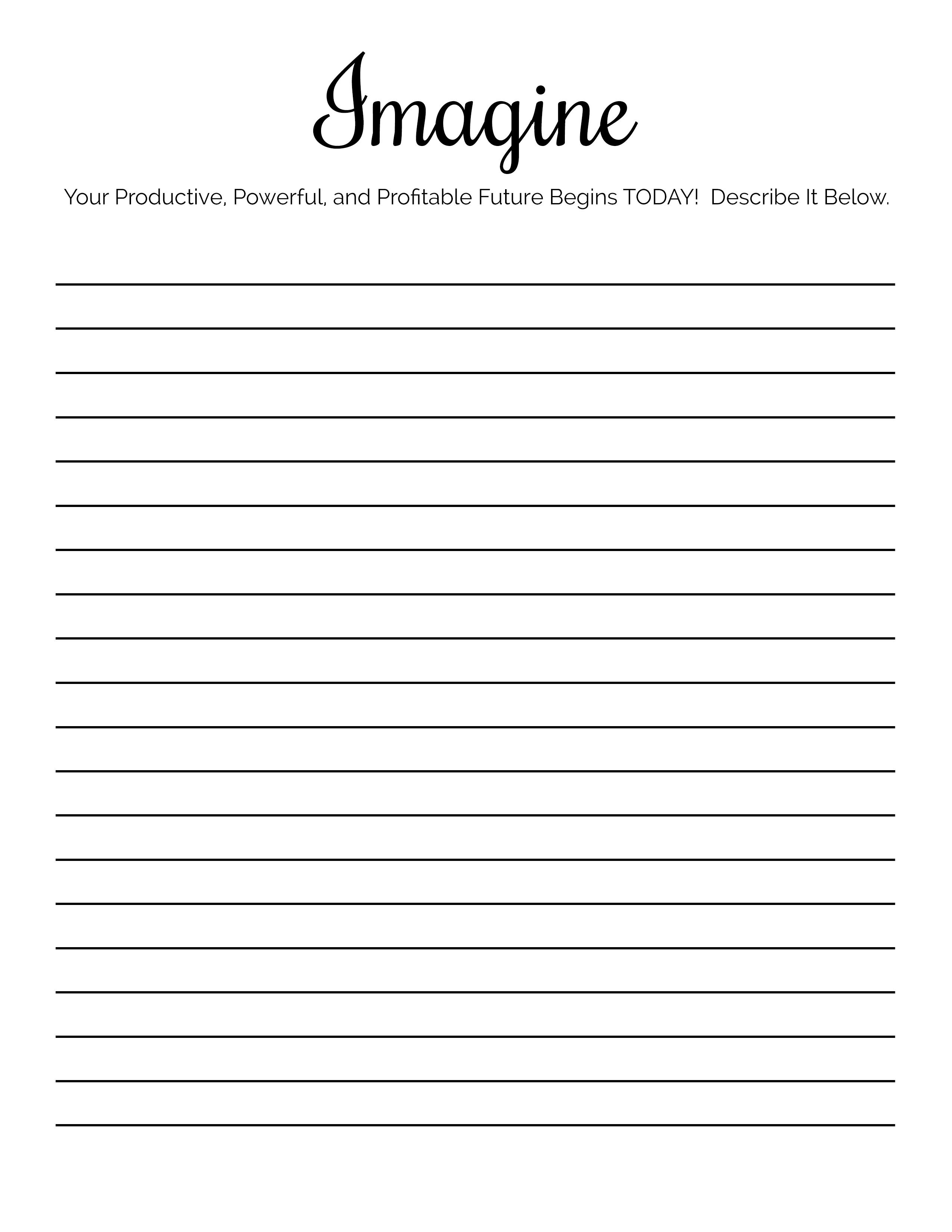 Imagine Worksheet Preview