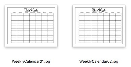 Simple Success Planner Weekly Calendar Preview