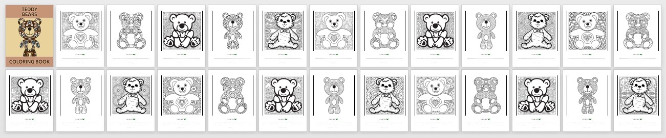 Teddy Bears Book Preview