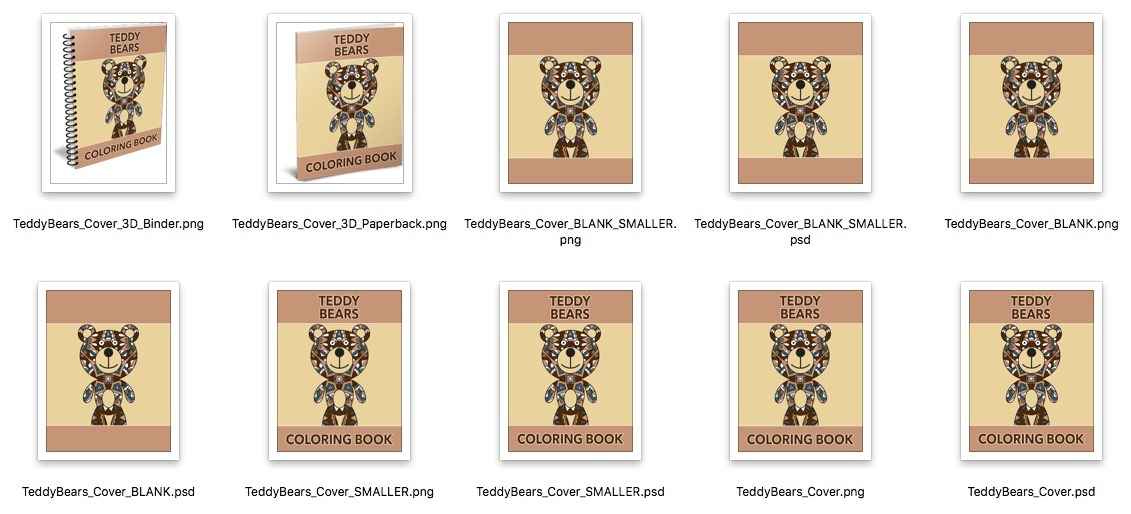 Teddy Bears Covers Preview